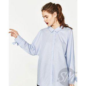 Zara Blue shirt with ties